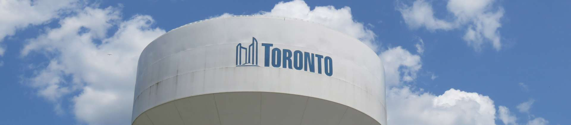 Toronto water tower and blue sky