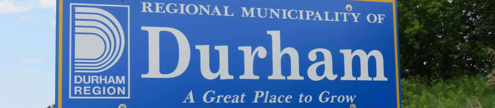 Durham Region sign