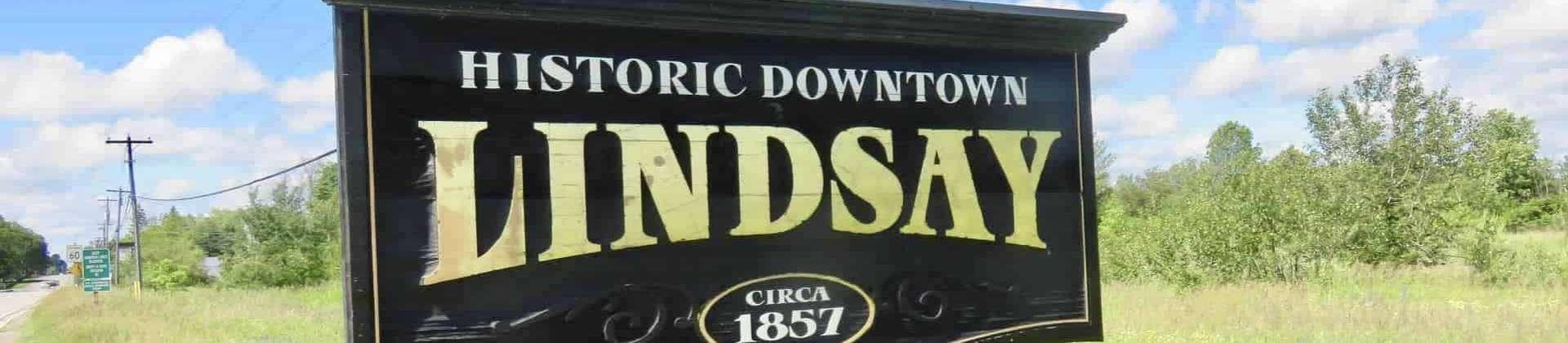 Lindsay Ontario downtown sign